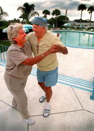 Grace and Tony Barrasso of East Boston, celebrated his birthday in 1997 with a poolside dance in Royal Palm Beach.